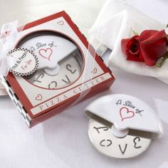 A Slice of love  stainless-steel pizza cutter. http://www.sihanda.com/