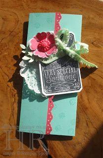 Chalk Talk and Flower Shop Gift Card Holder #SU 3 Panel Card