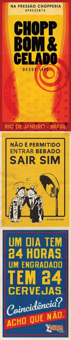 Bossa Carioca Choperia - (Design by Muffa Comunicação) - muffa.com.br