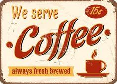 Vintage stijl Emaille bord verse koffie. Stockfoto - 13926757 by Ivaleksa