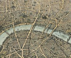 Old London map Birdseye View London 1892 - product images of Old Maps Of London, London Map, Vintage London, Old London, London Places, Antique Maps, Vintage Maps, Vintage Postcards, Poster Xxl