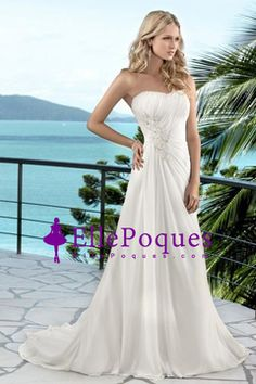 2016 A Line Sweetheart Wedding Dresses With Applique And Ruffles US$ 149.99 EQPKZ4H2ZE - ellepoques.com for mobile
