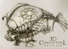 3DconceptualdesignerBlog: Before Steampunk, there was Jules Verne!