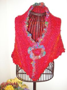 Ready to ship  Gorgeous one of a kind Shawl Wrap handmade by ufer, $55.00