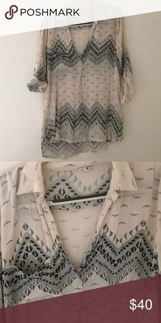 Molly green deep v top Pure cute deep v shirt. Bought at a boutique in Nashville called molly green LISTING as free people because they are very similar! Free People Tops Tunics