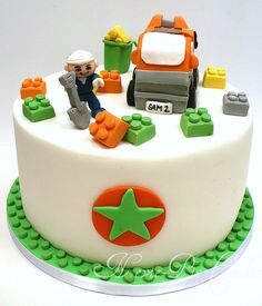 Little man's garbage truck cake ideas, I think I might steal this idea for Leighlends  birthday :)
