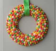 candy wreath for candy party