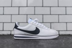 The Leather Edition Nike Cortez Basic in White & Navy - EU Kicks: Sneaker Magazine