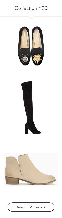 """""""Collection #20"""" by jordancydney ❤ liked on Polyvore featuring shoes, flats, footwear, black, black shoes, flat heel shoes, black flats, flat pump shoes, flat pumps and boots"""