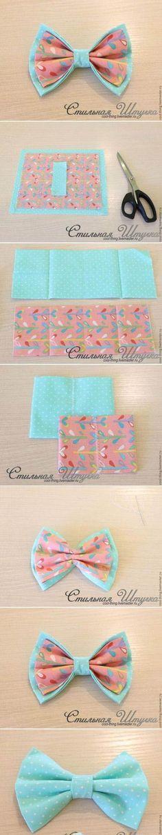 DIY noeud pour les cheveux ou autres en papier fantaisie