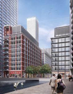 Herzog & de Meuron revela su nuevo Rascacielos para el Distrito de Negocios de Canary Wharf, en Londres