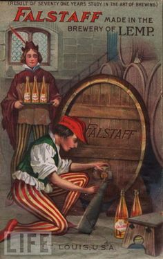 Old-School Beer Vintage Ads Falstaff made in the Brewery of Lemp
