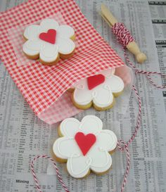 """""""My love is blossoming for you"""" valentine cookies"""