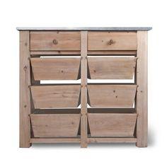Eight Drawer Storage Unit  Kitchen produce storage