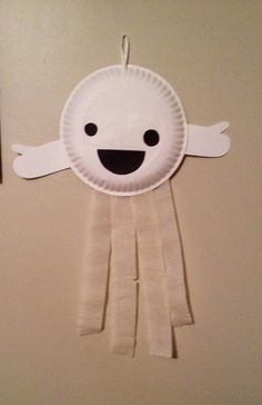 Paper Plate Ghost - Preschool Halloween Craft
