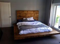 platform bed custom made to order. size color by ziggythehipster, $1800.00