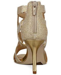 2801c093ed90 Marc Fisher Nala Mid Heel Evening Sandals - Gold 7.5M