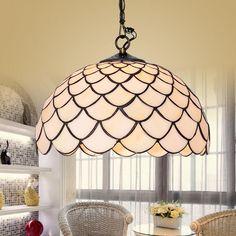 BYB Vintage Tiffany Style Chandelier Pendant Lamp Droplet Ceiling Lighting