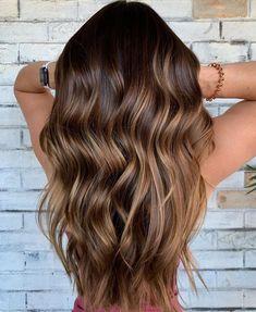 Brown Hair Balayage, Brown Blonde Hair, Hair Color Balayage, Golden Blonde, Brown Hair Natural Highlights, Natural Balyage, Dark Brown Long Hair, Caramel Highlights On Dark Hair, Balayage Hair Brunette Caramel