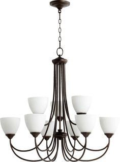 Two Tier Candle Chandelier With Nine Lights In Bronze Finish At Destination Lighting φωτιστικα Pinterest Chandeliers And