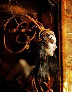 A wonderfully whimsical headdress. Inspiration for The Goblin Ball - Melbourne masquerade event. www.facebook.com/GoblinBall