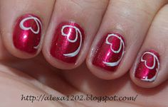 Valentine's day manicure using Orly - Crawford's wine and Be My Valentine, Nail Designs, Nail Polish, Nail Art, Nails, Beauty, Nail Ideas, Holidays, Board