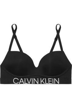 Calvin Klein Underwear Statement 1981 Stretch-jersey Push-up Bra - Black Push Up, Calvin Klein Underwear, Personal Shopping, Statements, Online Fashion Stores, Label Design, 34c, Slip On, Womens Fashion
