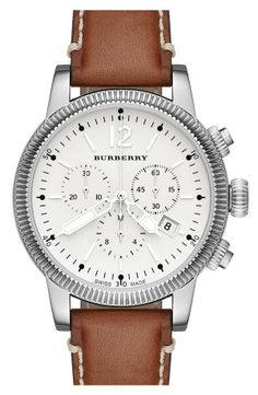 Burberry watch, love this style for a leather watch