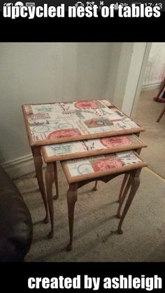 upcycled nest of tables created by ashleigh (courtesy of @Pinstamatic http://pinstamatic.com)