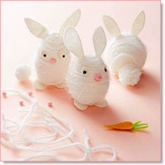 Time for Fresh Eggs: Modern Easter Egg Crafts - The Violet Hours Bunny Crafts, Easter Crafts For Kids, Diy For Kids, Easter Ideas, Hoppy Easter, Easter Gift, Easter Eggs, Easter Bunny, Easter Table