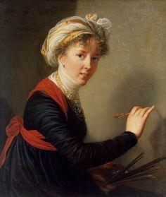The Athenaeum - Self-Portrait Élisabeth Vigée-Lebrun - 1800 Hermitage Museum - St-Petersburg (Russia) Painting - oil on canvas