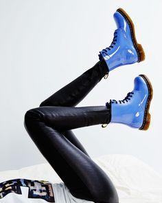 Dr. Martens Lavender Patent Leather 1460 W 8-eye Boots