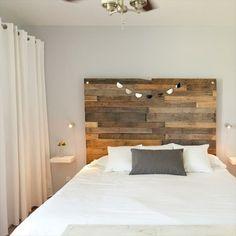 Bett Kopfteil Matratze Holzplatten Blumenmuster Streichen Bettwäsche Weiß |  DIY | Pinterest | Vintage And Interiors