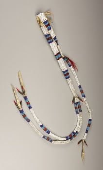 American Indian Art:Beadwork, A SIOUX BEADED HIDE AWL CASE. c. 1890. ...