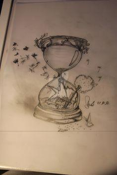memento mori hourglass tattoo for women - Google Search