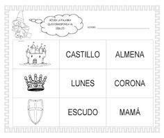 ESOS LOCOS BAJITOS DE INFANTIL: MAS FICHAS DEL PROYECTO LOS CASTILLOS Castillo Feudal, Education, Words, Castles, Cardboard Castle, Medieval Castle, Egg, Teaching, Onderwijs