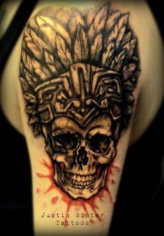 6787f63e7e5ce Tattoos Future Tattoos Tattoo Patterns Aztec Tattoos Skull Tattoo .