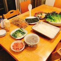 手巻き寿司待機中 祭りじゃ  #晩ごはん #dinner #晚餐 #저녁밥 #diner #abendessen #cena #middag #ужин #kolacja #cooking #cuisine #cookingram #japanesefood  #inmykitchen  #homemade #手巻き寿司パーティー #おうちごはん #料理日記 #weekend #instagood #instadaily #japan #sunday #instalike #instamoment  #sushilovers #happy #手巻き寿司 #sushi