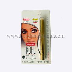 Kohl para delinear los ojos en cómodo formato lápiz. Eyeliner estilo árabe color negro, no se corre ni mancha. Envío inmediato