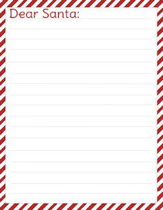 Santa Candy Stripe free letter to Santa template