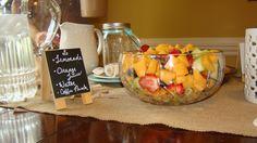 Fresh fruit always included in brunch.