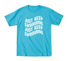JUST KEEP SWIMMING - Finding Nemo movie funny hip cool cute humor baby girls boys outfit clothes tee retro - Toddler Kids t-shirt e1646