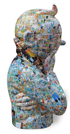 Artist Peppone: Sculpture of Tintin Captain Haddock, Herge Tintin, Tableaux Vivants, Bd Comics, Popular Art, Toy Craft, Fantasy Books, Nostalgia, Sculptures