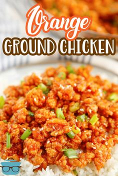 This tasty Ground Orange Chicken recipe is an easy, delicious weeknight meal. It's a fun, fast and much simpler take ontraditional Orange Chicken! Best Chicken Recipes, Asian Recipes, Mexican Food Recipes, Oregano Chicken, Honey Dijon Chicken, Quick Meals, Weeknight Meals, Easy Dinner Recipes, Easy Soup Recipes