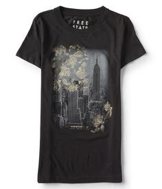 Free State Floral City Scene Graphic Tee