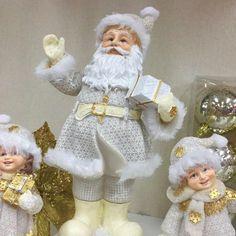 Santa Christmas, Christmas 2016, Christmas Themes, White Christmas, Christmas Crafts, Christmas Decorations, Holiday Decor, Saint Nicholas, Paper Mache