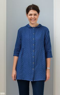 Sewing Like Mad: Japanese Shirt Pattern plus Vertical Button/Buttonhole Placement Tutorial.