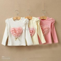 2014 Korean new fall kids tops girls Striped love cotton long-sleeved T-shirt bottoming shirt red Simply Crochet, Kids Tops, Cute Baby Clothes, Girls Jeans, Kids Wear, Pretty Dresses, Kids Outfits, Kids Fashion, Red Black
