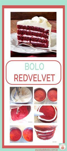 #boloredvelvet tem uma coloração linda e é sucesso garantido na sua festa #bolosdefesta #aulaonline #escoladebolo #façaevenda