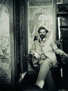 Alfons Mucha...perhaps my favorite artist of all time.  His borders on his art deco stuff is simply gorgeous.